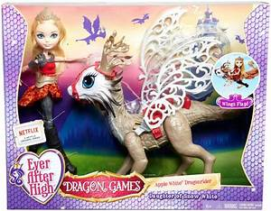 Amazon.com: Ever After High Dragon Games Apple White Doll ...