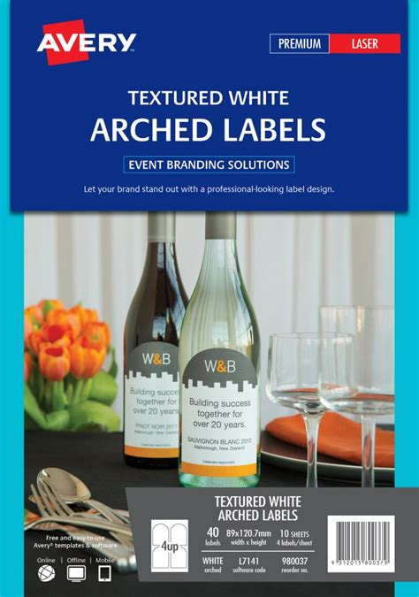 avery textured arched labels   mm  labels