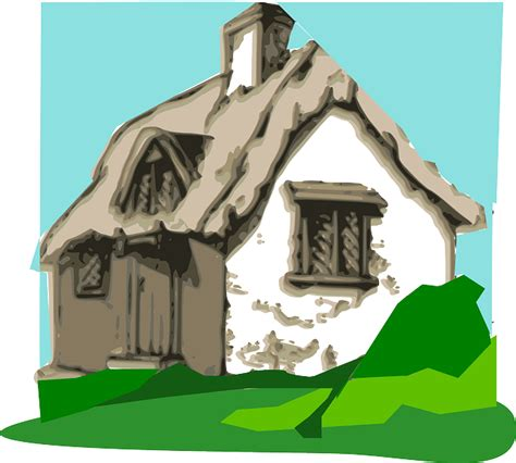 Cottage Clipart Free Vector Graphic Cottage Hut Home Peace Chimney