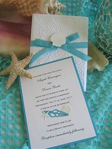 Seashell and lace beach wedding invitation for Beach wedding invitations with pictures