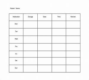 Medicine Chart For Elderly 11 Medication Chart Template Free Sample Example