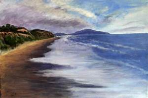 Original Landscape Paintings - Gene Gould - Blue Ocean