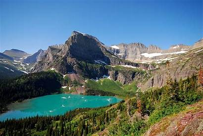 Grinnell Lake Glacier Trail Mount Gould