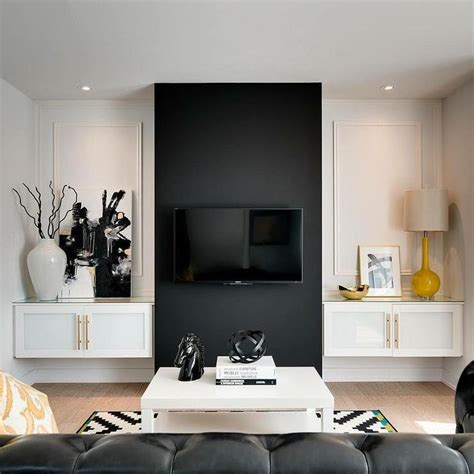 Leather Couch Living Room Ideas by Best 25 Black Accent Walls Ideas On Pinterest Home