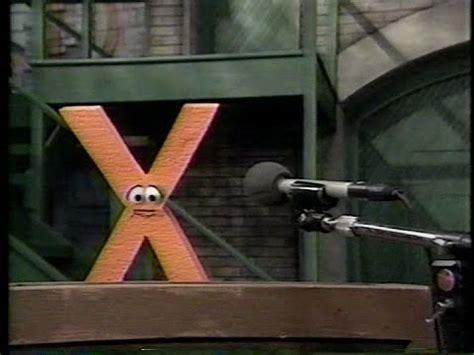 sesame letter x sesame the letter x quits the alphabet 48482