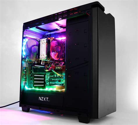 best pc case lighting nzxt hue plus matte black rgb led custom pc dubai pc