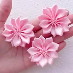 hair bows wholesale tomada de flor de fita de cetim vender por atacado