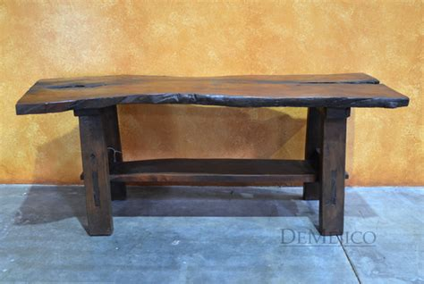 Live Edge Patio Console, Live Edge Console Table, Rustic