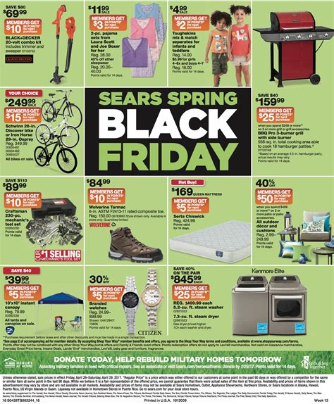 black friday table deals 2017 sears spring black friday ad 4 28 4 29 coupon world