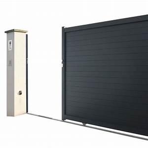 Lapeyre Portail Bois : portail coulissant aluminium napoli portails pinterest ~ Premium-room.com Idées de Décoration