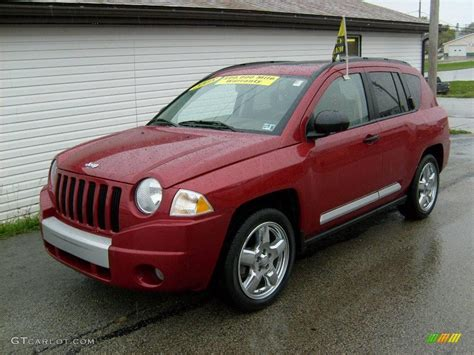 jeep compass limited blue 2008 inferno red crystal pearl jeep compass limited 4x4