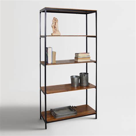 Wood and Metal Williard Tall Bookshelf   World Market
