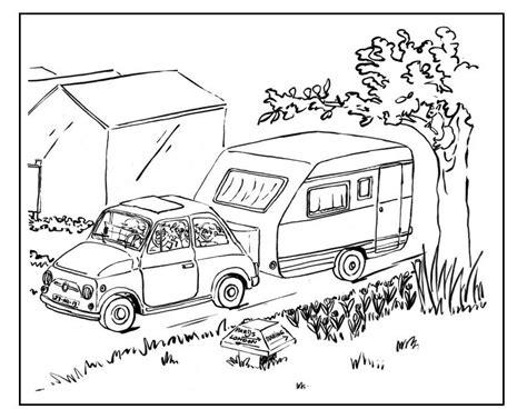 Caravan Kleurplaat by Kleurplaat Vakantie Met Caravan Kleurplaten Rens