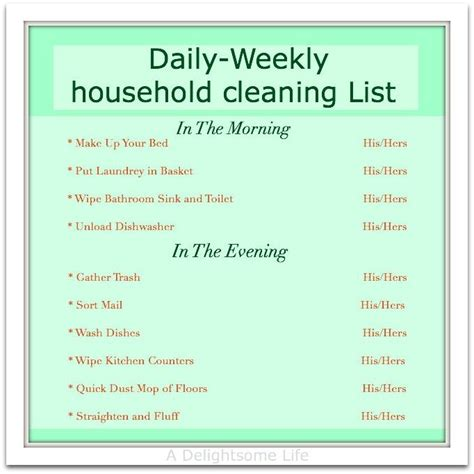 household chore schedule weekly cleaning schedule chore