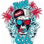 Shirt Vector Graffiti Illustration Material Trend Skull