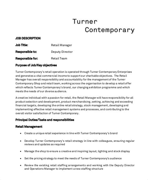 Retail Resume Objective by 5 Retail Resume Objectives Sle Templates