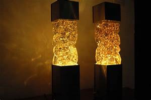 Pair Of 70s Glitter Lamps