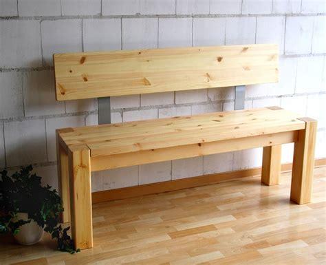 küchenbank mit lehne sitzbank 140x86x47cm mit r 252 ckenlehne kiefer massiv