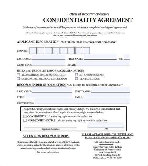 Confidentiality Agreement Template 7 Free Confidentiality Agreement Templates Excel Pdf Formats