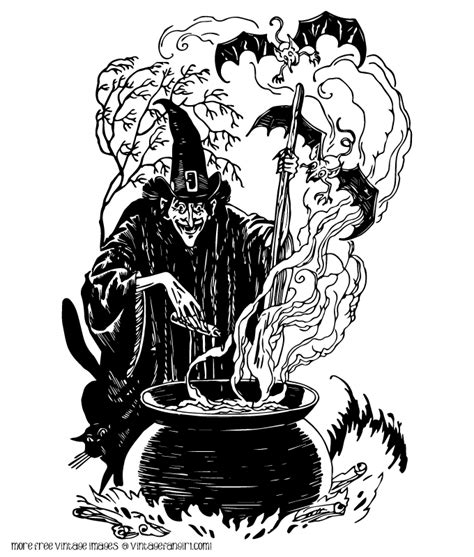classic vintage halloween witch clip art  vintage fangirl