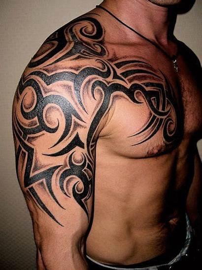 Tribal Tattoo Tattoos Shoulder Mens Chest Tatuagens