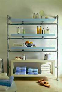 Floating, Bathroom, Shelf, Made, With, Kee, Klamp, And, Lack, Components, -, Ikea, Hackers