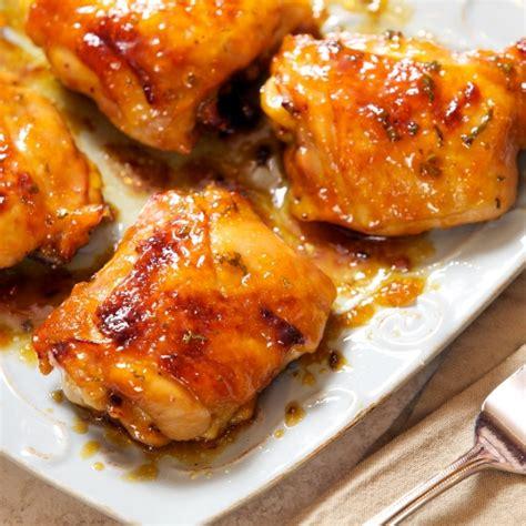 apricot glazed chicken thighs sticky chicken recipe updated