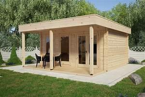 Gartenhaus Mit Vordach : gro es gartenhaus mit vordach ian e 18m 50mm 4x5 hansagarten24 ~ Udekor.club Haus und Dekorationen
