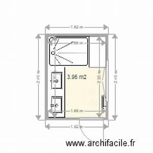 Plan Salle De Bain 4m2 : salle de bain 4m2 plan 1 pi ce 4 m2 dessin par pgm ~ Nature-et-papiers.com Idées de Décoration