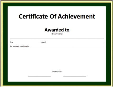 award certificate template  word joy studio design