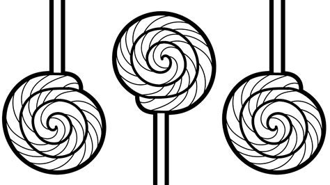 Coloring Pages Candy Lollipop. Coloring Book Video For