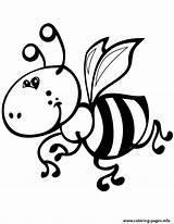 Coloring Pages Bee Bumble Bumblebee Printable Cute Outline Print Clip Cliparts Little Colouring Clipart Sheets Collection Busy Library Adults Animals sketch template