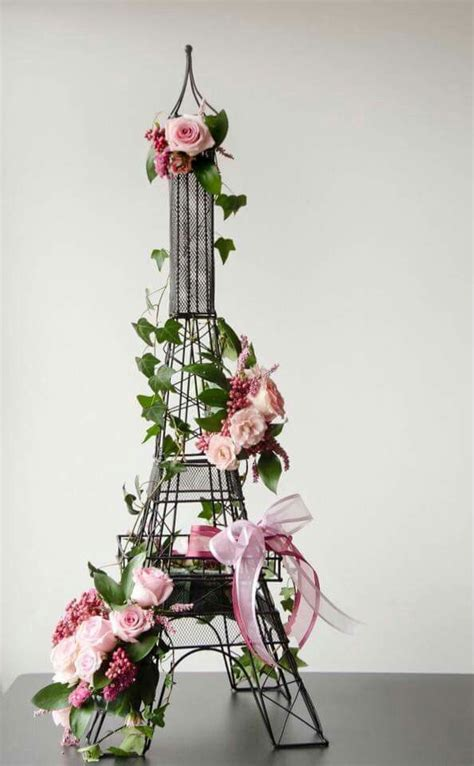 paris theme table decor party planning pinterest