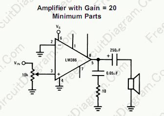 Small Low Voltage High Quality Audio Amplifier Circuit