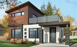 casa de dos pisos con terraza planos de casas gratis With maison bois toit plat 15 cube 180 hci constructions