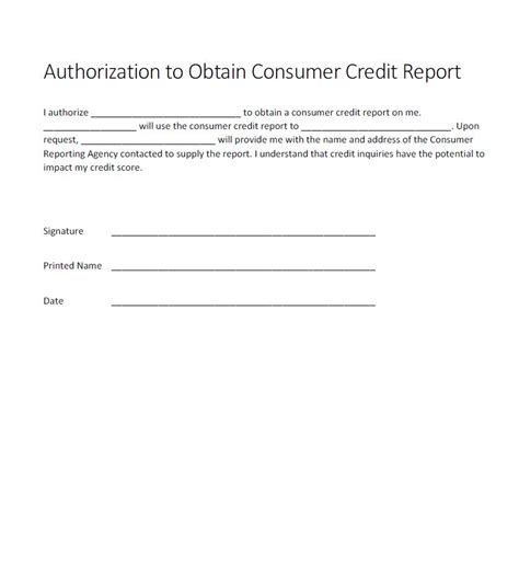 authorization  credit check form generic