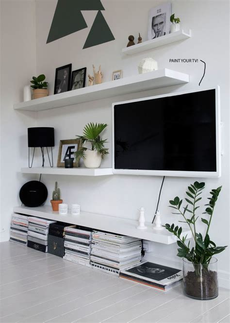 Ikea Wandregale Wohnzimmer by Mix Tv In With Shelving Home Ikea Lack Wandregal