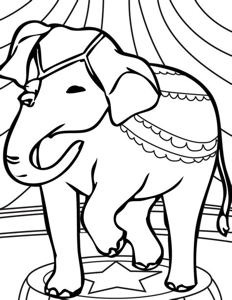 circus elephant coloring pages ideas  kids
