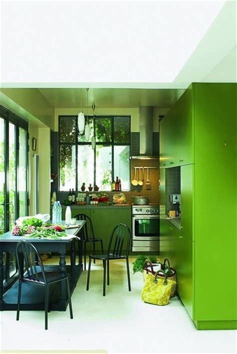 cuisine mur vert couleur dans la cuisine osez le vert pomme vert gazon