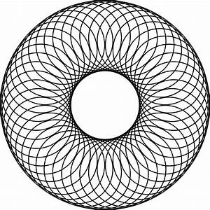 48 Overlapping Circles About A Center Circle And Inside A