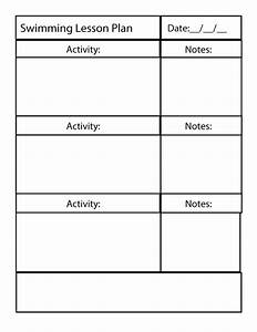 swimming lessons plan swim lesson plan template With tutor lesson plan template