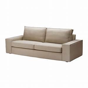 ikea kivik 3 seat sofa slipcover cover dansbo beige With ikea sofa cover