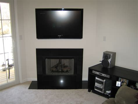 above tv mount tv on brick fireplace hide wires fireplaces
