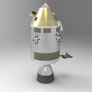 Apollo Spacecraft Studio Max 3D Model MAX PDF | CGTrader.com
