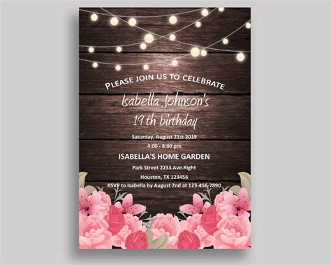 printable birthday invitation designs examples