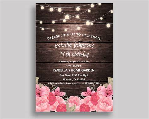 FREE 23+ Printable Birthday Invitation Designs & Examples
