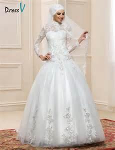 sleeve gown wedding dress aliexpress buy sleeve muslim turtleneck wedding dresses gown 2017 sequin