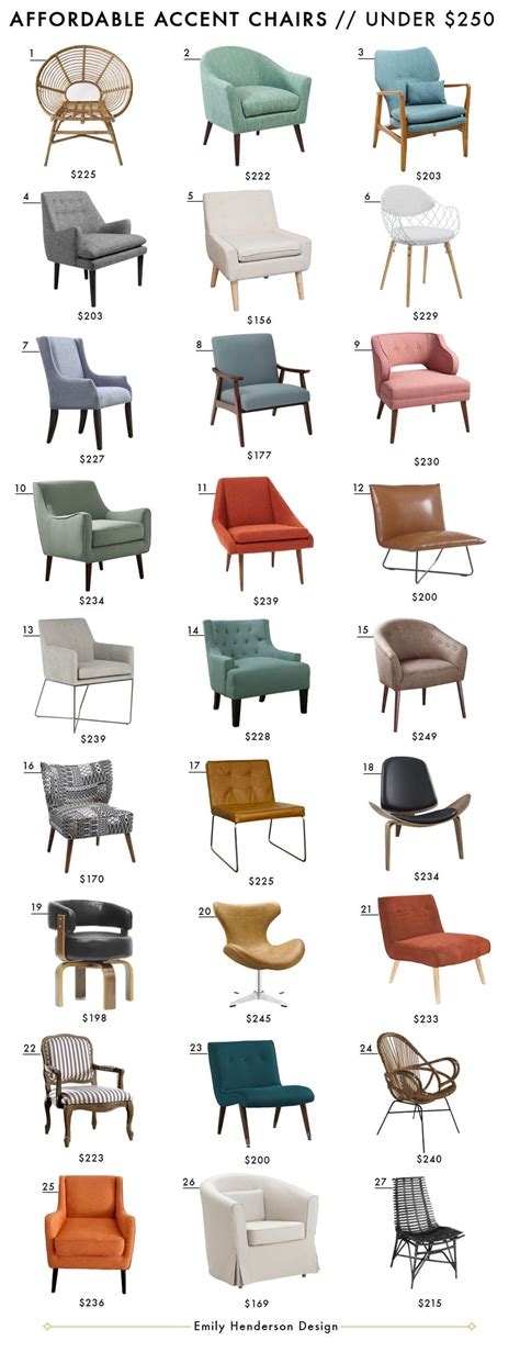 Affordable Accent Chairs by Affordable Accent Chair Roundup Style By Emily Henderson