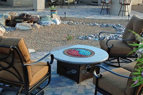 backyard pit table in desert traditional patio