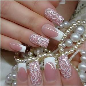 Bridal wedding nail art designs ideas inspiring
